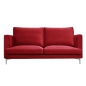 Preview: Sofa mit rotem Bezug.