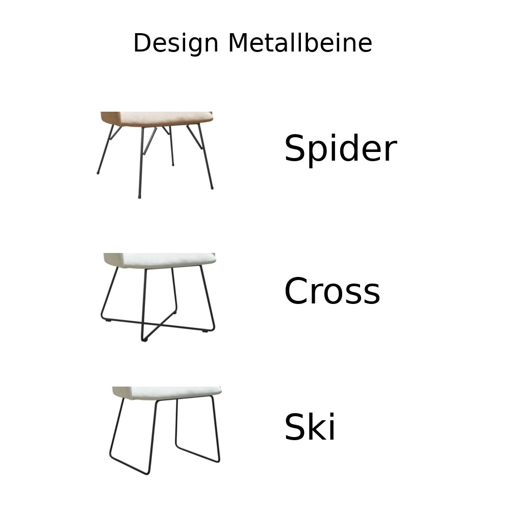 Design Metallbeine.